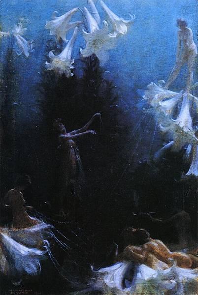 Charles Courtney Curran (1861-1942)-The Cobweb Cance.jpg