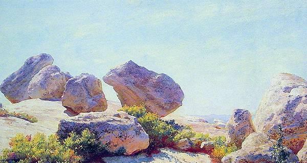 Charles Courtney Curran (1861-1942)-Boulders_on_Bear_Cliff.jpg