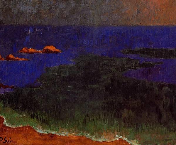 Paul Serusier (1864-1927) The Seat at Poldu-Sunset.jpg