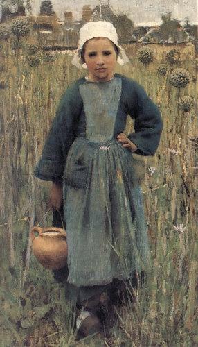George Clausen (1852-1944) George-Clausen--breton-girl-carrying-a-jug-by-Savio-s-Vintage-Art-qpps_320314384960557.LG.jpg
