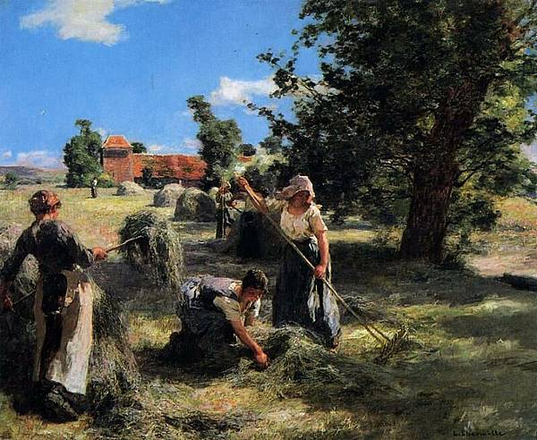 Harvest at the Farm on Rue Chaily - (Leon Augustin Lhermitte.jpg