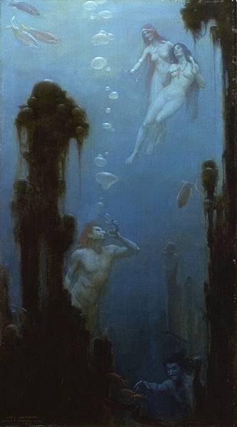 Charles Courtney Curran (1861-1942)-A Deep Sea Fantasy.jpg
