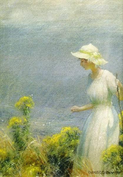 Charles Courtney Curran (1861-1942)-A Summer Walk.jpg