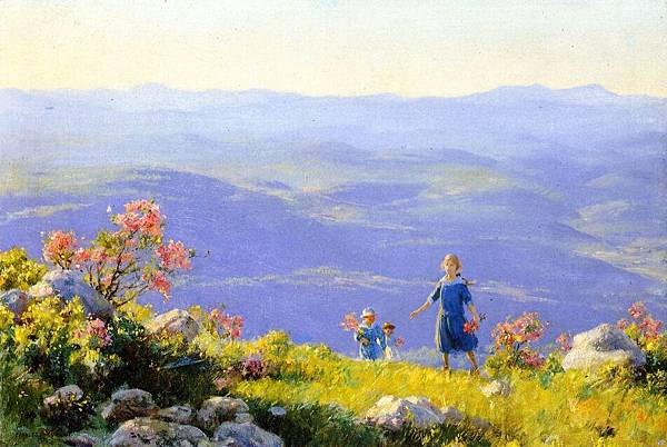 Charles Courtney Curran (1861-1942)-May Afternoon.jpg