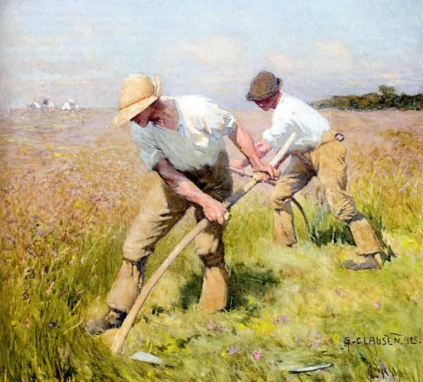 George Clausen (1852-1944) Sir George Clausen (1852-1944)_The_Mowers.jpg