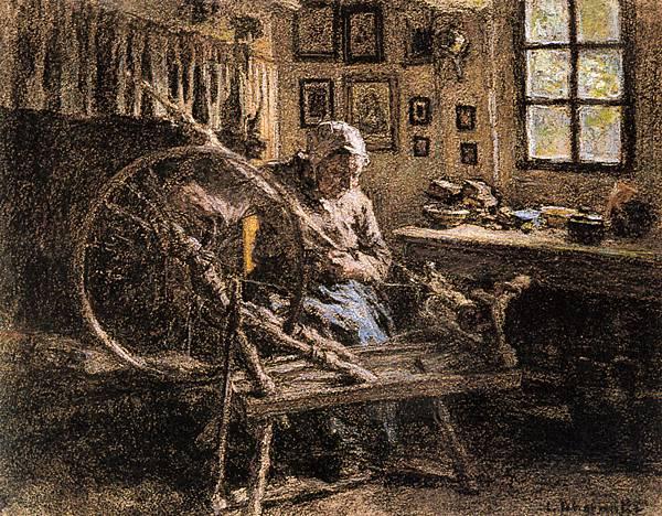 Leon Augustin L'hermitte (1844-1925)-Lhermitte_Leon_Augustin_The_Spinning_Wheel.jpg