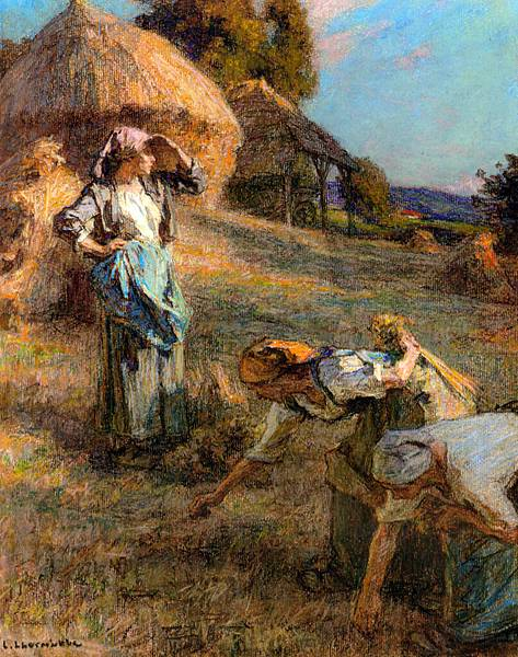 Leon Augustin L'hermitte (1844-1925)-Lhermitte_Leon_Augustin_The_Haymakers_Pastel_on_Paper_on_Canvas.jpg