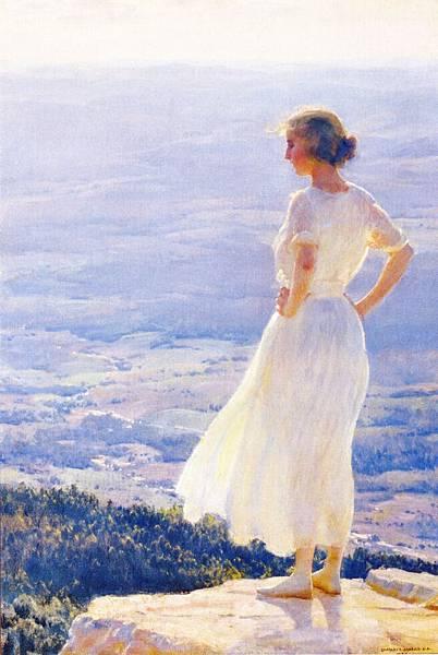 Charles Courtney Curran (1861-1942)-Sunlit Valley.jpg