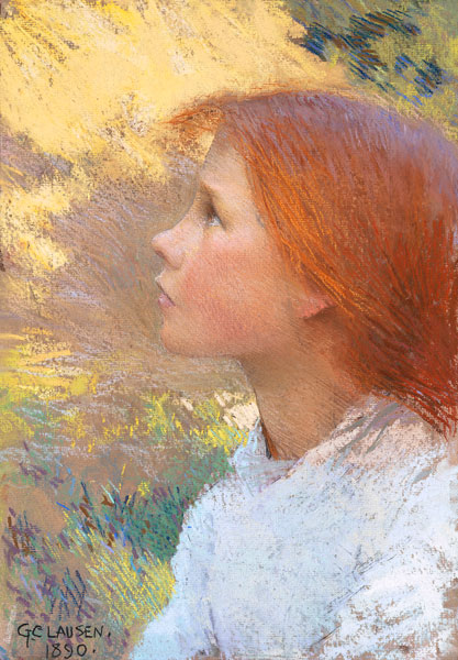 George Clausen (1852-1944) Head of a Young Girl, 1890 .jpg