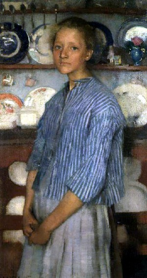 George Clausen (1852-1944) A Normandy Peasant, 1887.jpg