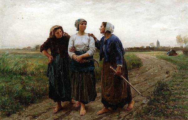 Jules Breton (1827-1906) Setting out for the Fields.jpg