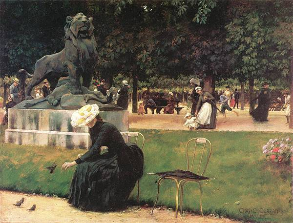 Charles Courtney Curran (1861-1942)-In the Luxembourg Garden-1889.jpg