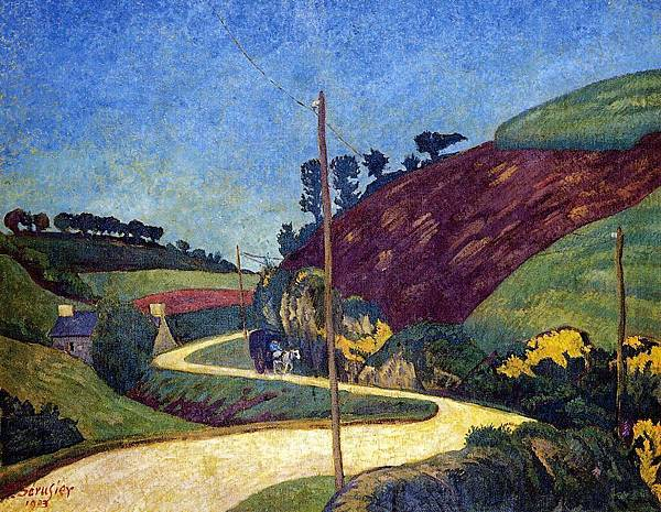 Paul Serusier (1864-1927) The Stagecoach Road in the Country with a Cart.jpg
