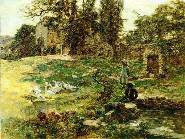 Field with Geese - (Leon Augustin Lhermitte - 1897).jpg