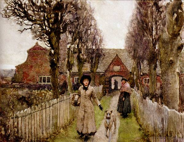 George Clausen (1852-1944) Sir George Clausen (1852-1944)_Gaywood_Almshouses_Kings_Lynn_1881.jpg