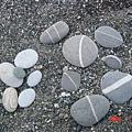 海邊撿來的石頭