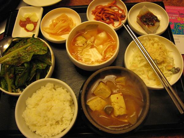這是辣豆腐湯套餐