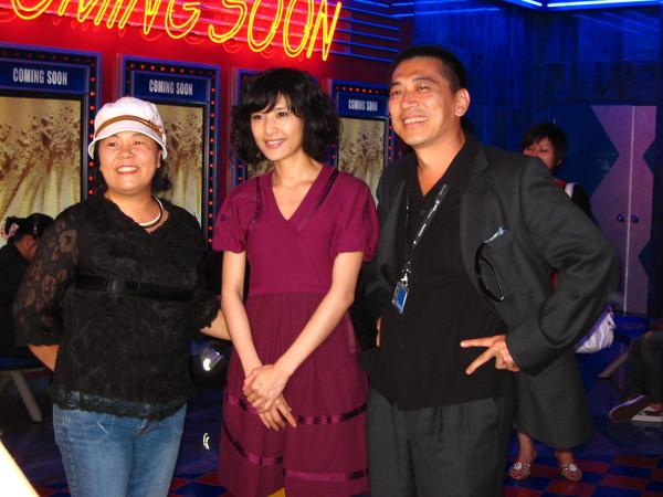 電影放映會後和觀眾合照
