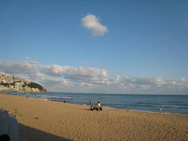 海雲台的海灘