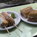 Cuban三明治和烤玉米