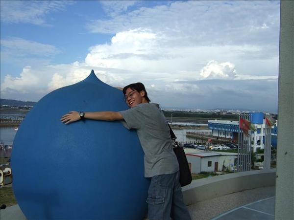 好大的藍色桃子!XD