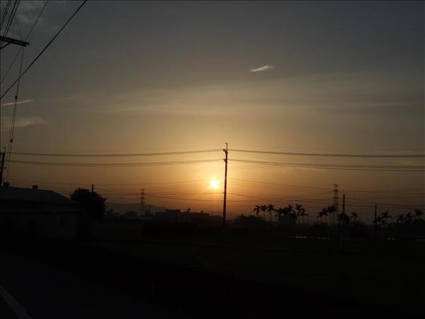 六點左右的夕陽