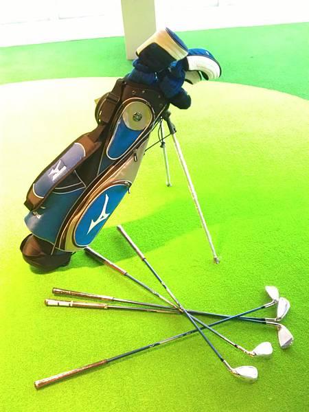 藍色高爾夫球具組1