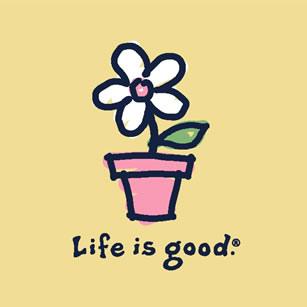 life-is-good-flower-pot
