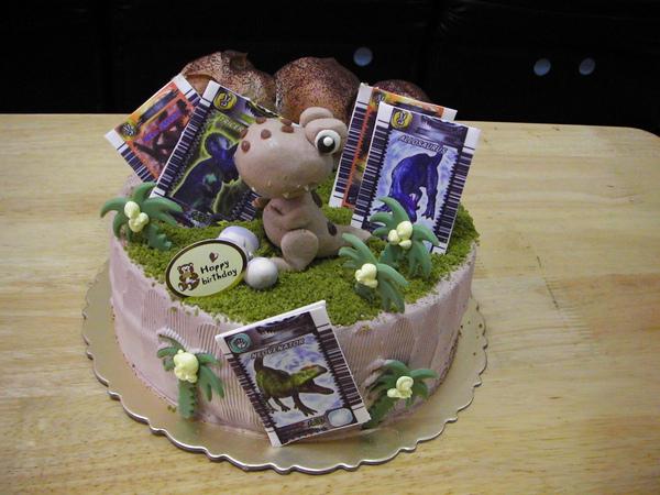 <恐龍卡蛋糕>