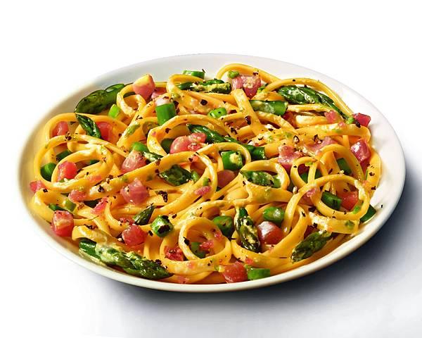 明蝦扇貝蕃茄奶油細扁麵