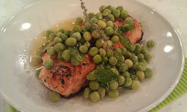檸汁香煎鮭魚