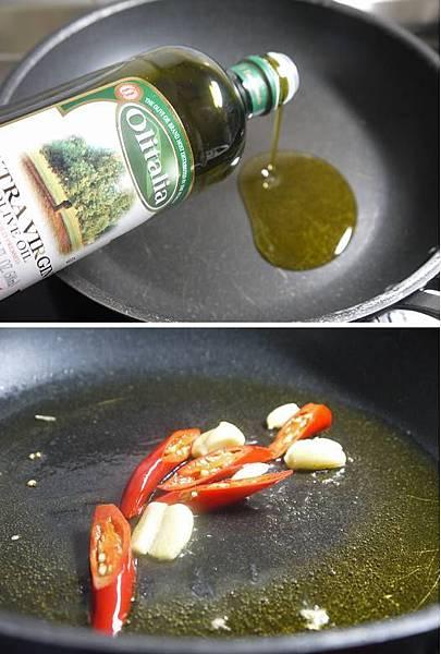 鯷魚拌炒烏賊蕃茄四季豆