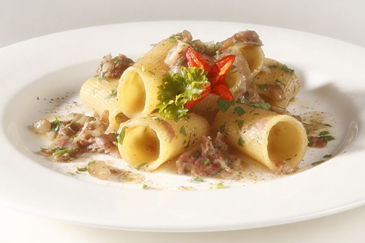 Pasta with Bacon Sauce
