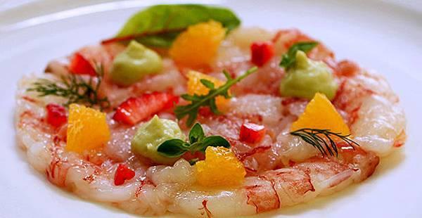 【奧利塔食譜】蝦鮮薄片佐橙汁酪梨醬 (AVOCADO, CITRUS AND SHRIMP CARPACCIO)