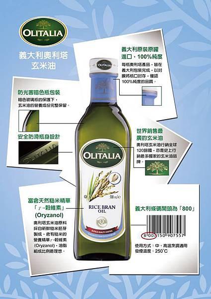 奧利塔玄米油產品標示