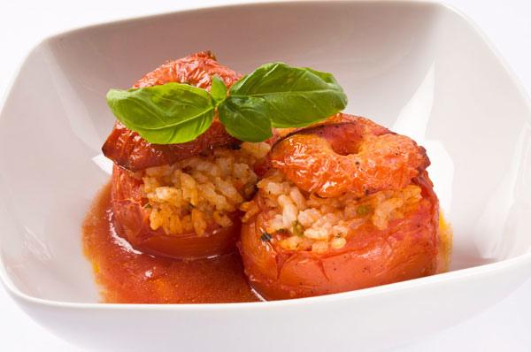 烤蕃茄鑲米