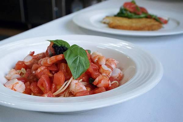 蕃茄鮮蝦天使細麵