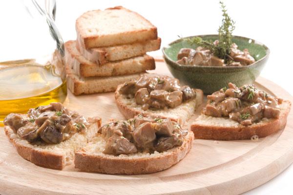 義式野菇烤麵包
