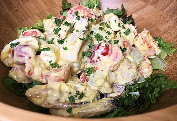 伊萊克斯料理x海鮮沙拉拌橄欖油風味美乃滋1