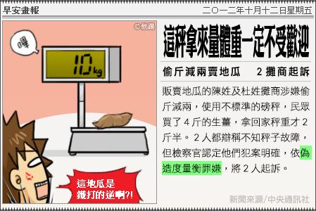 新聞畫報20121012