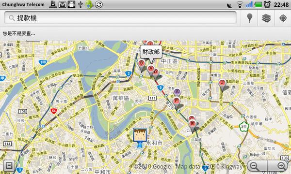 Gmaps-搜尋提款機