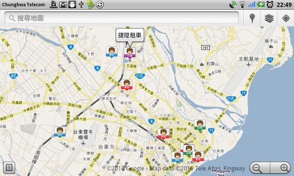 Gmaps-我的地圖台東篇