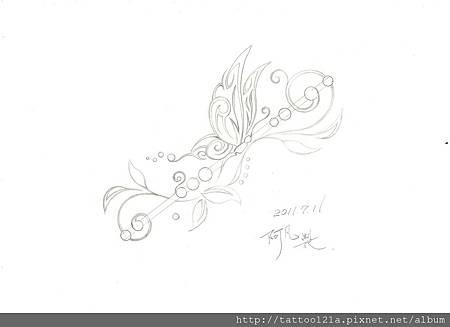 李先生的蝴蝶設計稿.