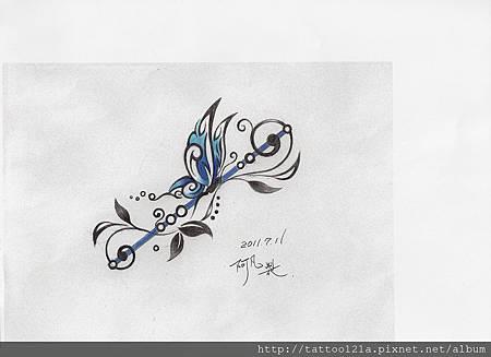 李先生的蝴蝶設計稿. <彩色完稿>