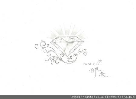 鑽石+藤蔓.(設計稿2.)