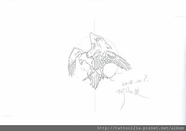 烏鴉刺青~北歐神話刺青