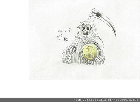 """""""金幣死神"""" 設計稿.<彩色完稿>"""