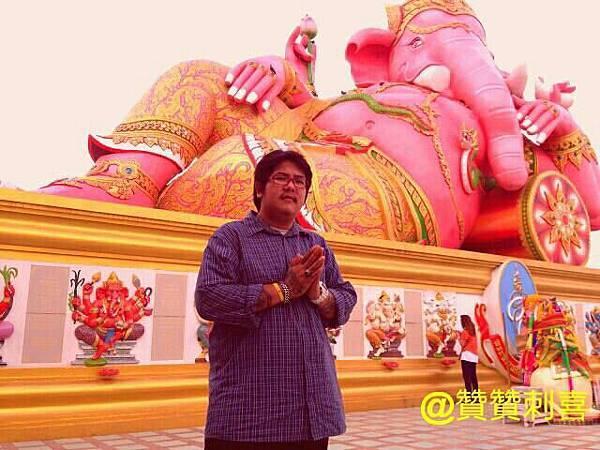 泰國最大最靈驗的紅象財神廟