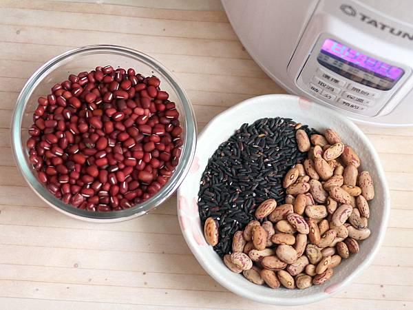 椰奶米花雙豆紫米粥1
