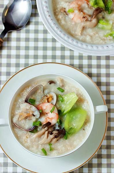 絲瓜燕麥海鮮粥2